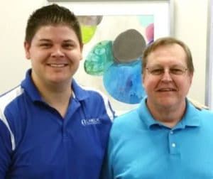 Chiropractor Jeffrey Lawlor with Andy