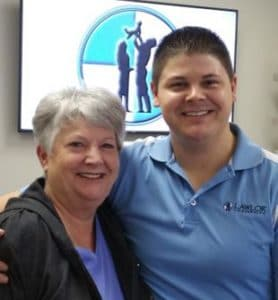 Chiropractor Jeffrey Lawlor with Pat