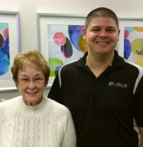 Chiropractor Jeffrey Lawlor with Sue